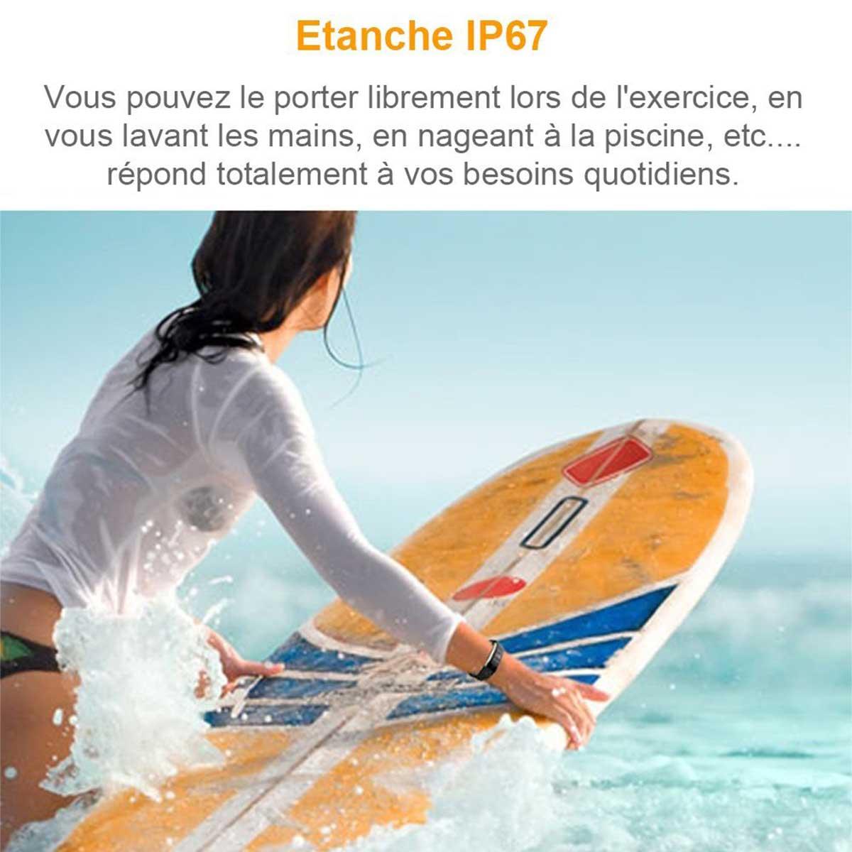 Test : Smartwatch Étanche Ip67 , Sport, Cardio, Bluetooth ... dedans Bracelet Connecté Piscine