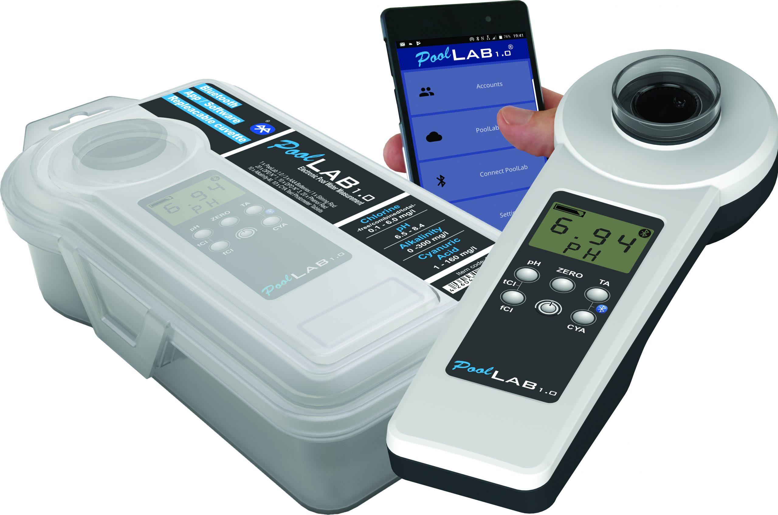 Testeur Électronique Pour Piscines - Photomètre Pool-Lab 1.0 intérieur Testeur Piscine Électronique