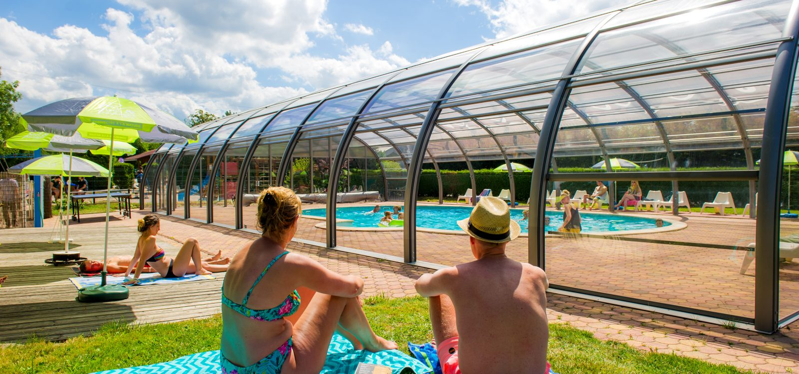 The Luxury Of A Covered Pool And The Charm Of A Stream ... concernant Camping Var Avec Piscine