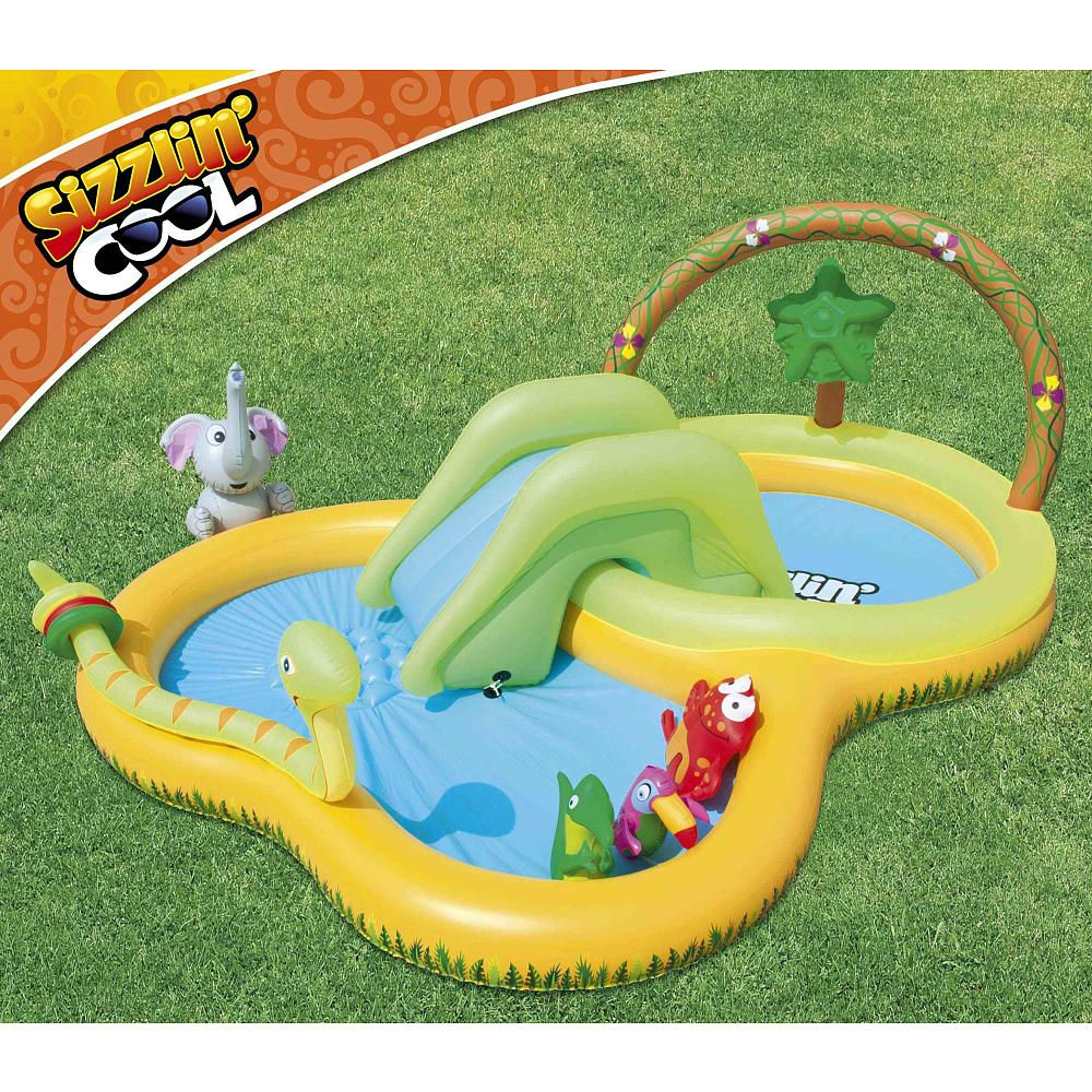 The Sizzlin' Cool Jungle Play Pool Provides Hours Of Jungle ... intérieur Piscine A Balle Toysrus