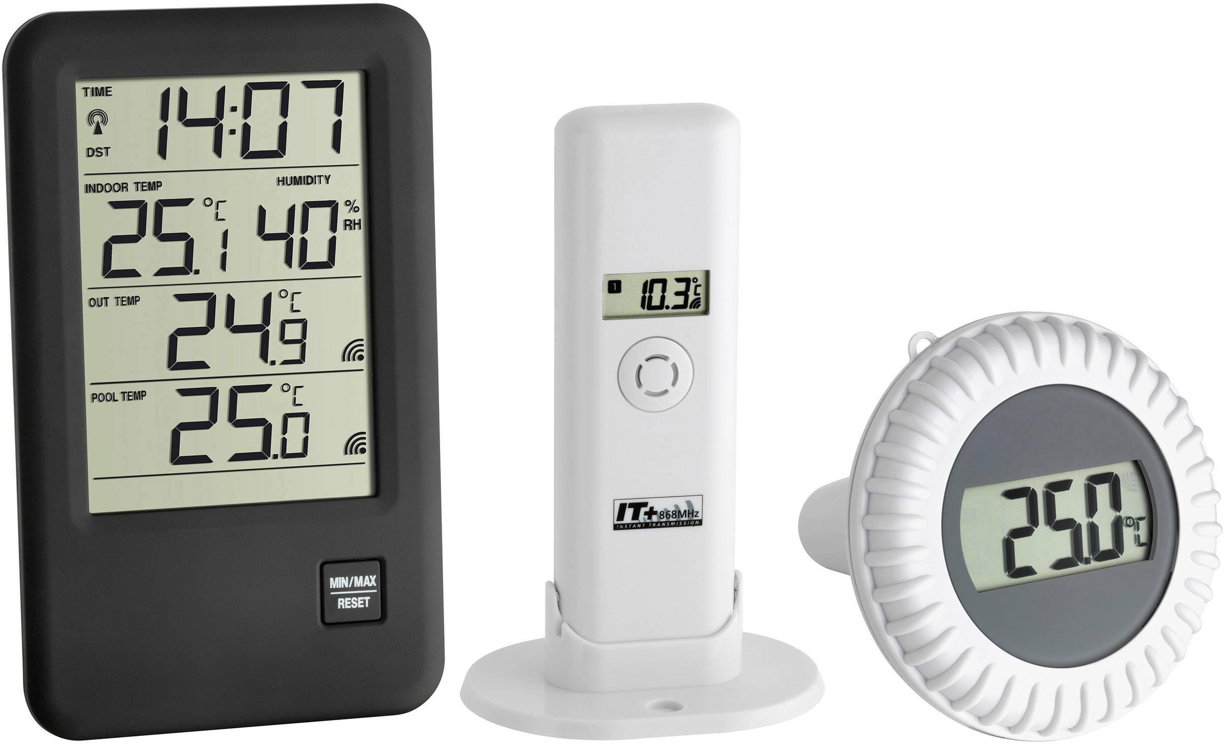 Thermomètre De Piscine Tfa Dostmann Malibu Noir destiné Thermometre Piscine Connecté