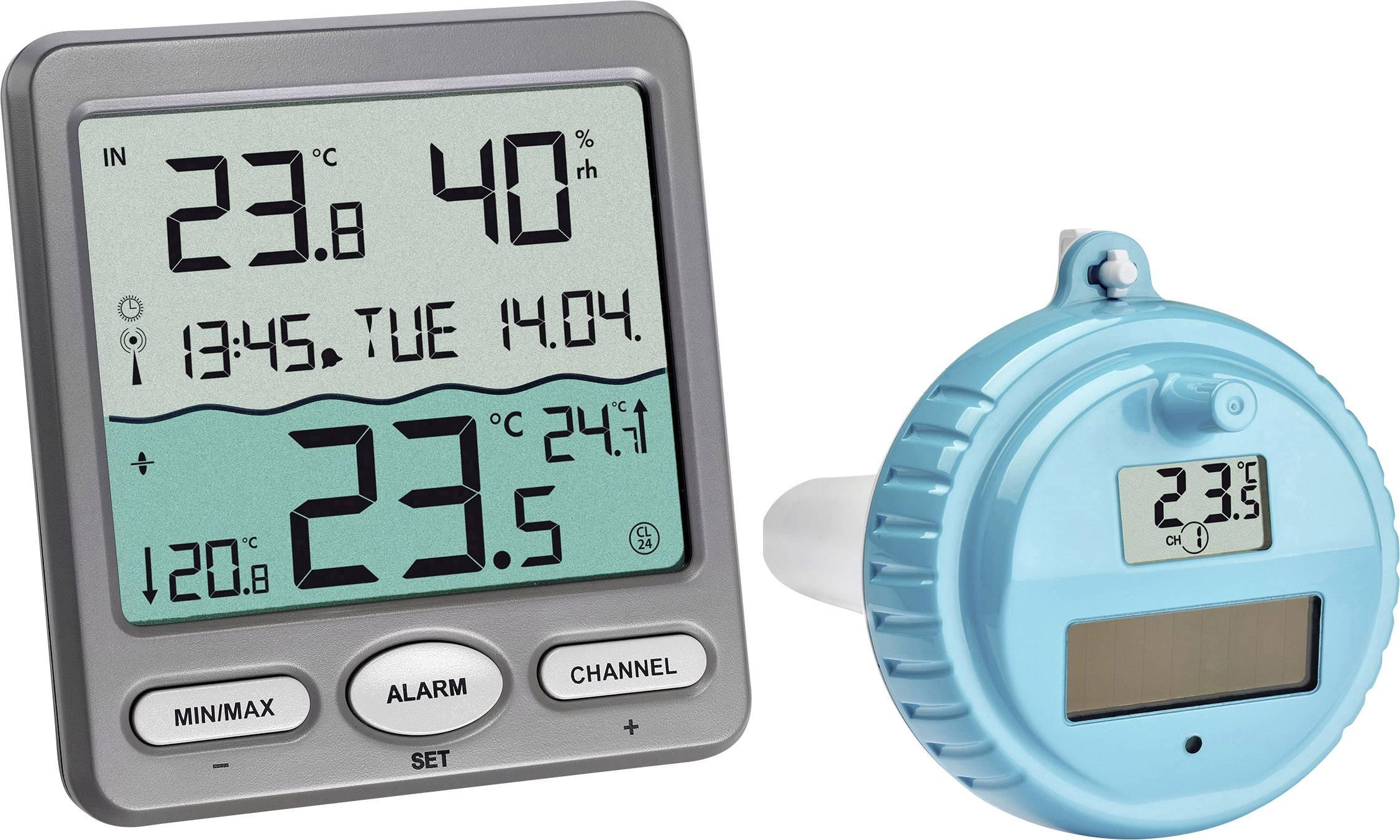 Thermomètres Tfa-Dostmann Marbella Thermomètre De Piscine ... intérieur Thermometre Piscine Connecté