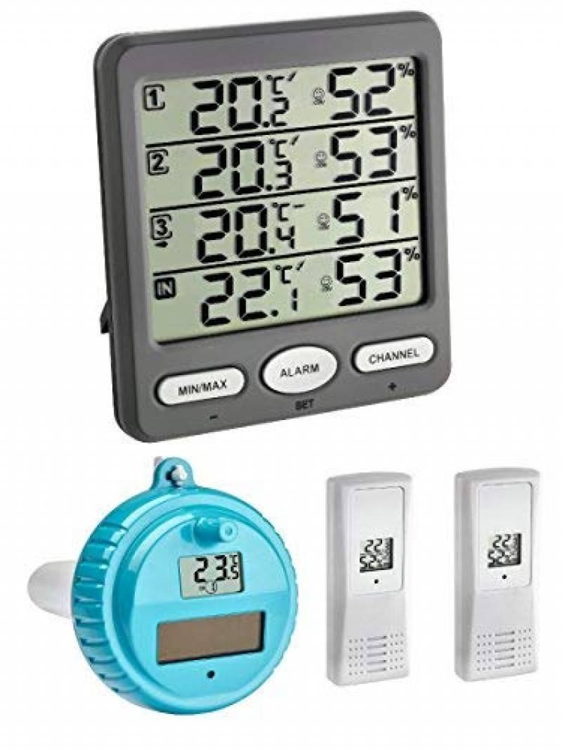 Thermomètres Tfa-Dostmann Marbella Thermomètre De Piscine ... tout Thermometre Piscine Connecté