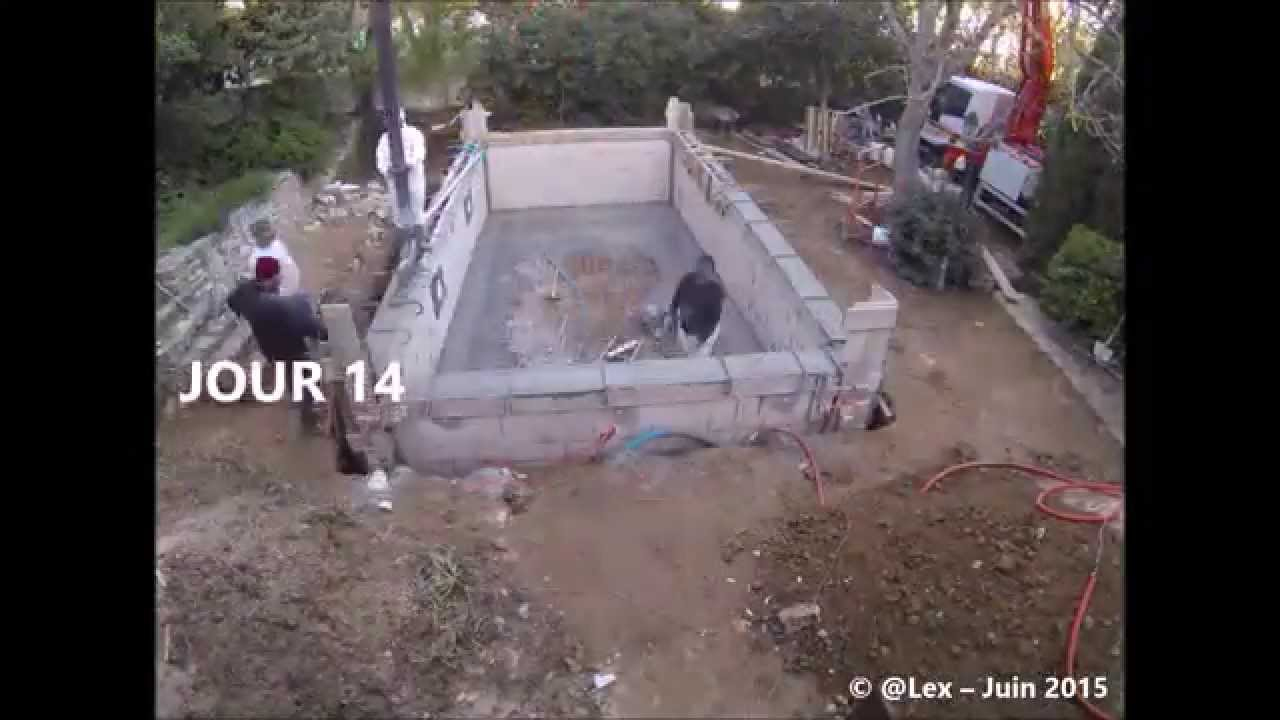 Time-Lapse Construction Piscine Béton serapportantà Autoconstruction Piscine