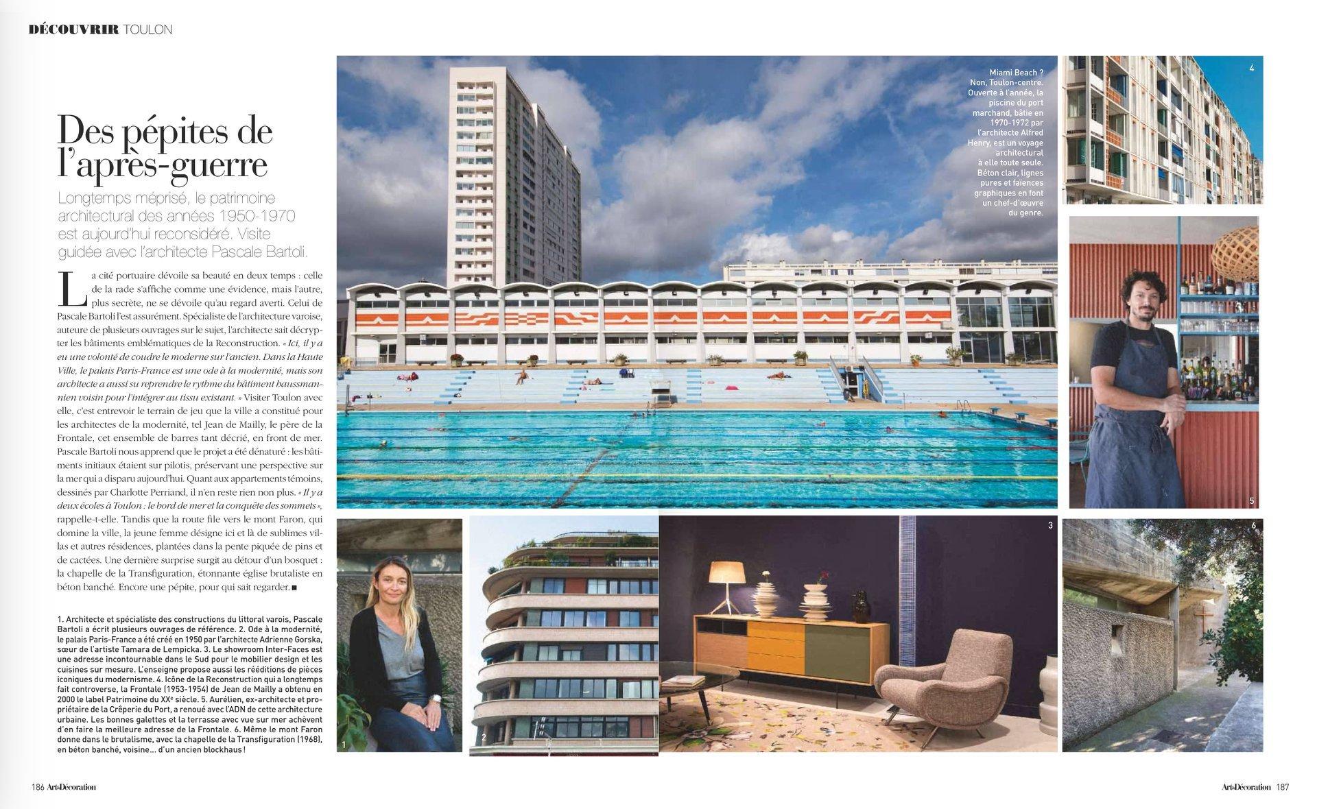 Toulon À La Une Du Magazine Art & Décoration - Ville De ... pour Piscine Du Port Marchand