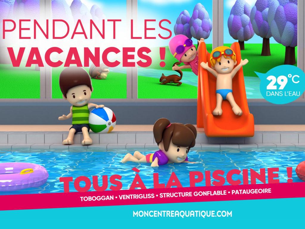 """Tous À La Piscine"""" Pendant Les Vacances Chez Forméo - Pays ... avec Piscine Falaise"""