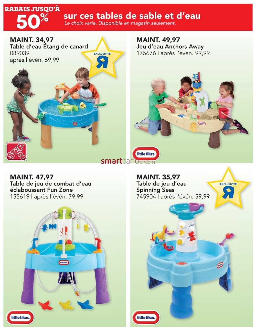 Toys R Us (Qc) Flyer June 7 To 13 concernant Piscine A Balle Toysrus