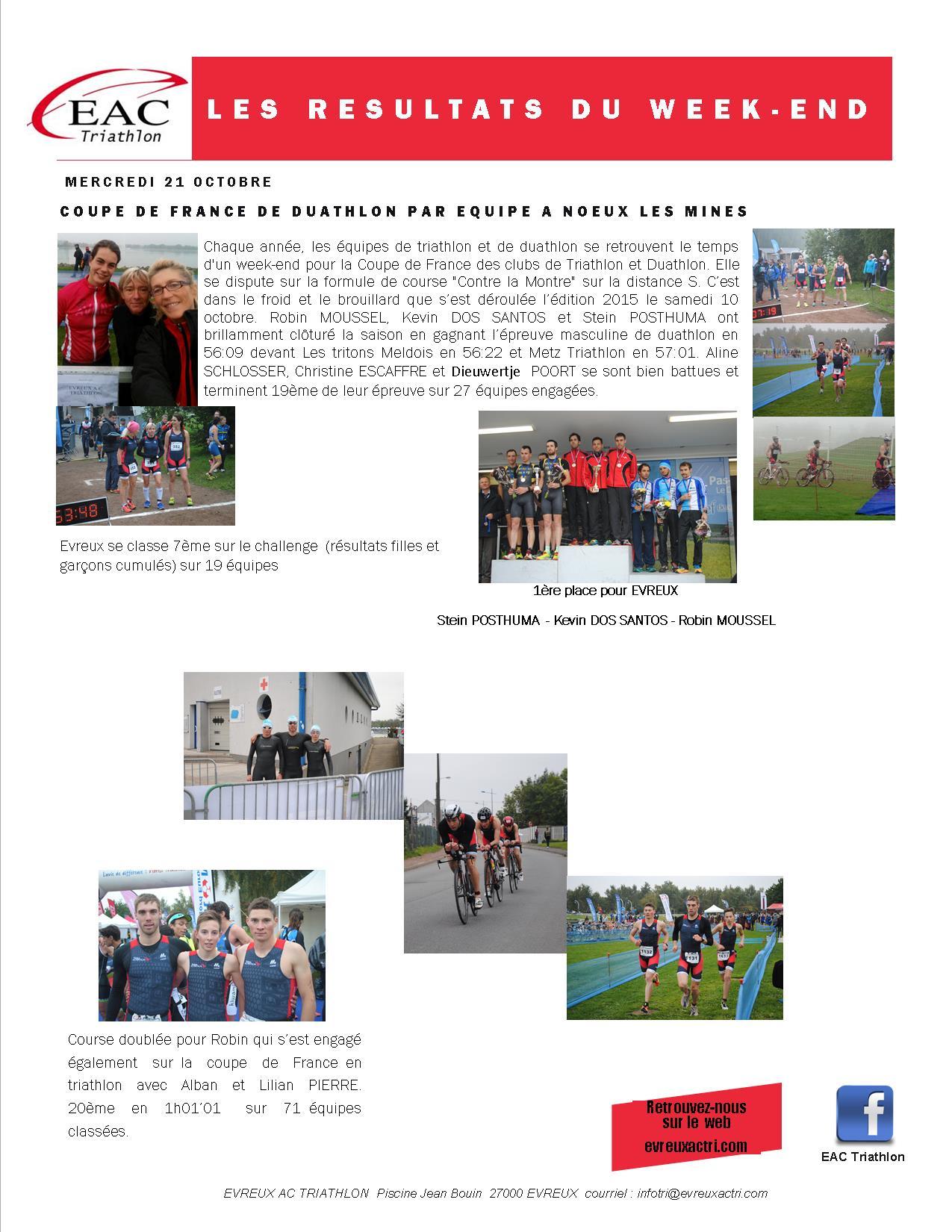 Trail De La Ligne Verte, Coupe De France avec Piscine Evreux Jean Bouin