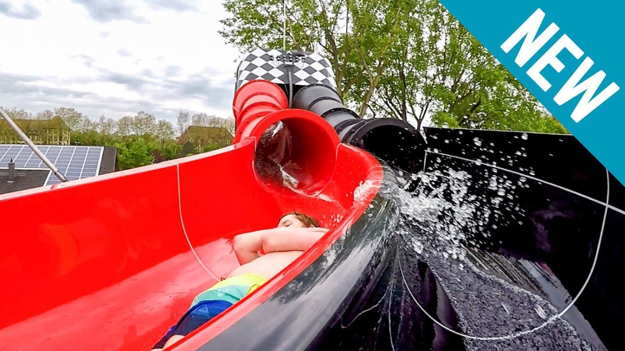 Turmbergbad Karlsruhe - Racer Water Slide Redblaxx [New 2017] Onride pour Piscine Karlsruhe