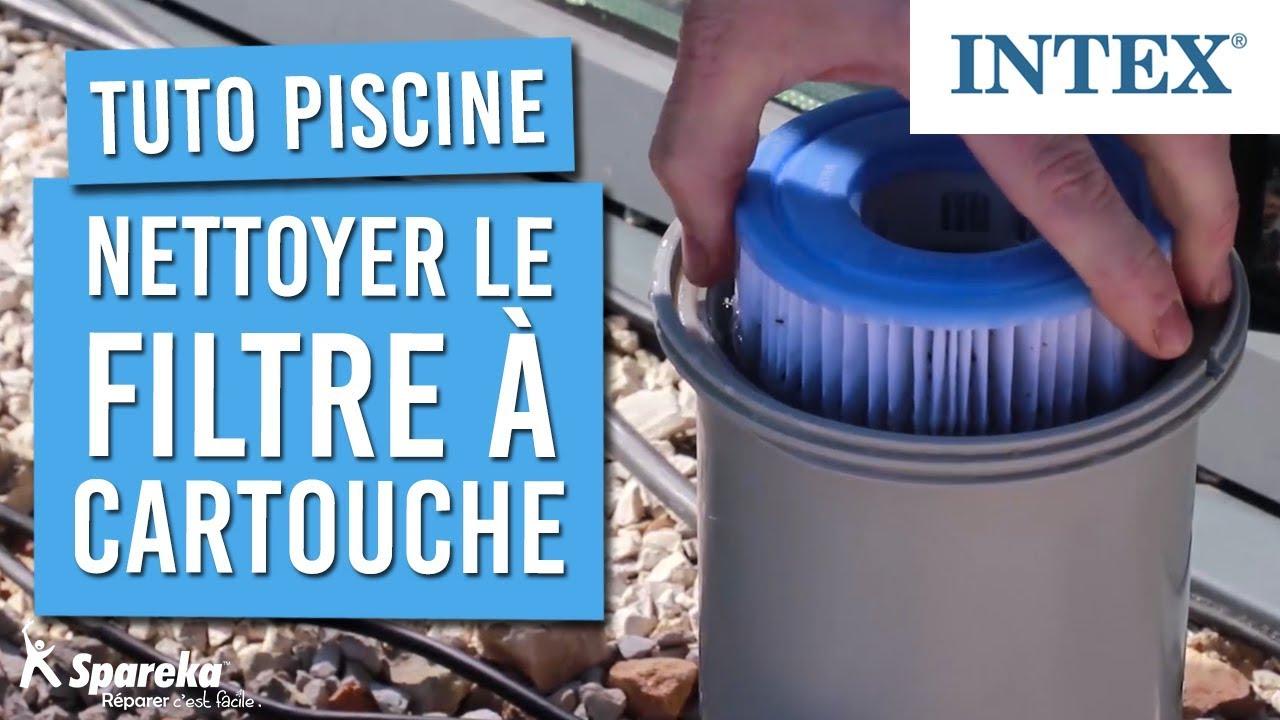 Tuto - Comment Nettoyer Le Filtre À Cartouche Intex De Votre Piscine serapportantà Filtre Pompe Piscine Intex