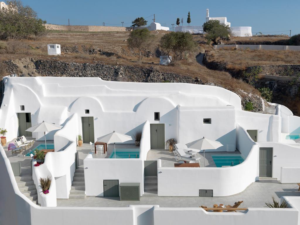 Un Hôtel Avec Piscine Privée À Santorin ! intérieur Hotel Avec Piscine Privee Par Chambre