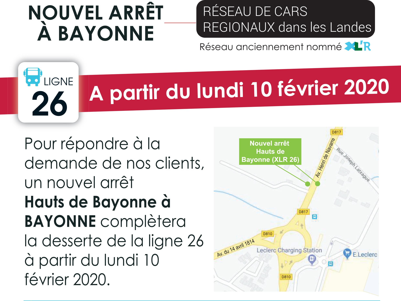 """Un Nouvel Arrêt """"haut De Bayonne - Bayonne"""" Sur La Ligne 26 ... pour Centre Aquatique Des Hauts De Bayonne Piscine Bayonne"""