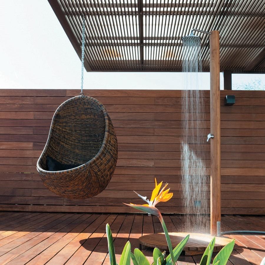 Une Douche D'extérieur Pour Votre Jardin – Visite Déco serapportantà Douche Extérieure Piscine