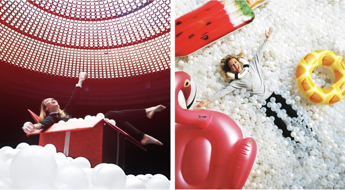 Une Piscine À Balles Géante Débarque Sous Le Dôme D'un Hôtel ... destiné Piscine A Balle Geante