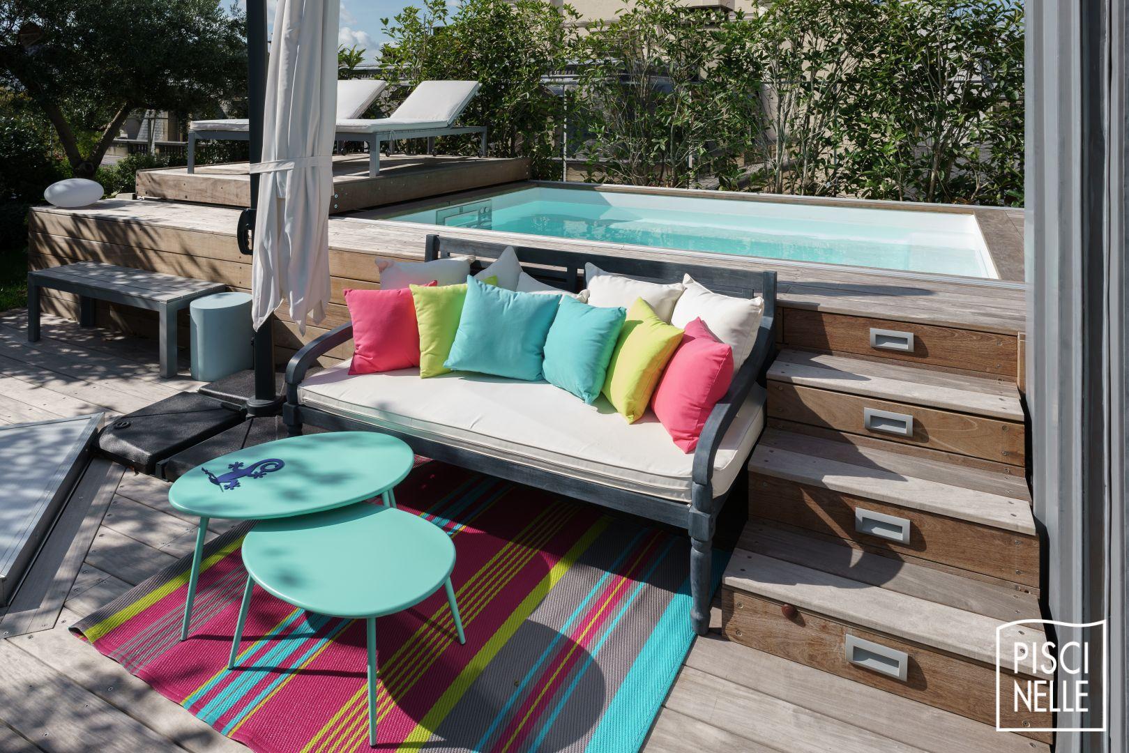 Une Piscine Sur Un Toit Terrasse À Paris - Piscinelle tout Mini Piscine Hors Sol