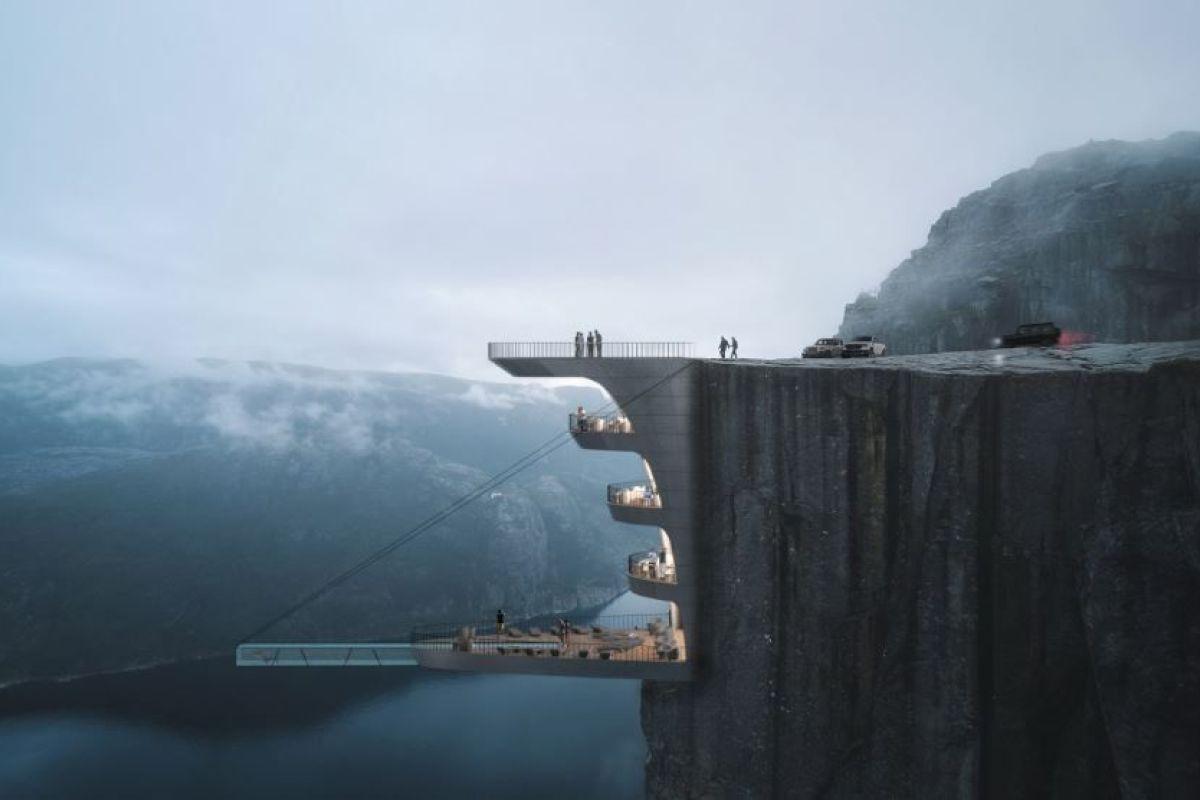 Une Piscine Suspendue À 600M De Hauteur En Norvège - Guide ... à Piscine Suspendue