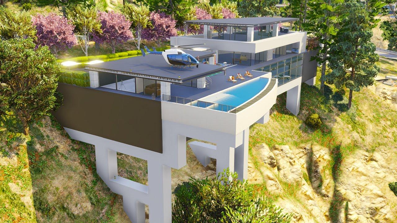 Une Villa De Milliardaire Avec Piscine Suspendue Sur Gta 5 ! concernant Piscine Suspendue