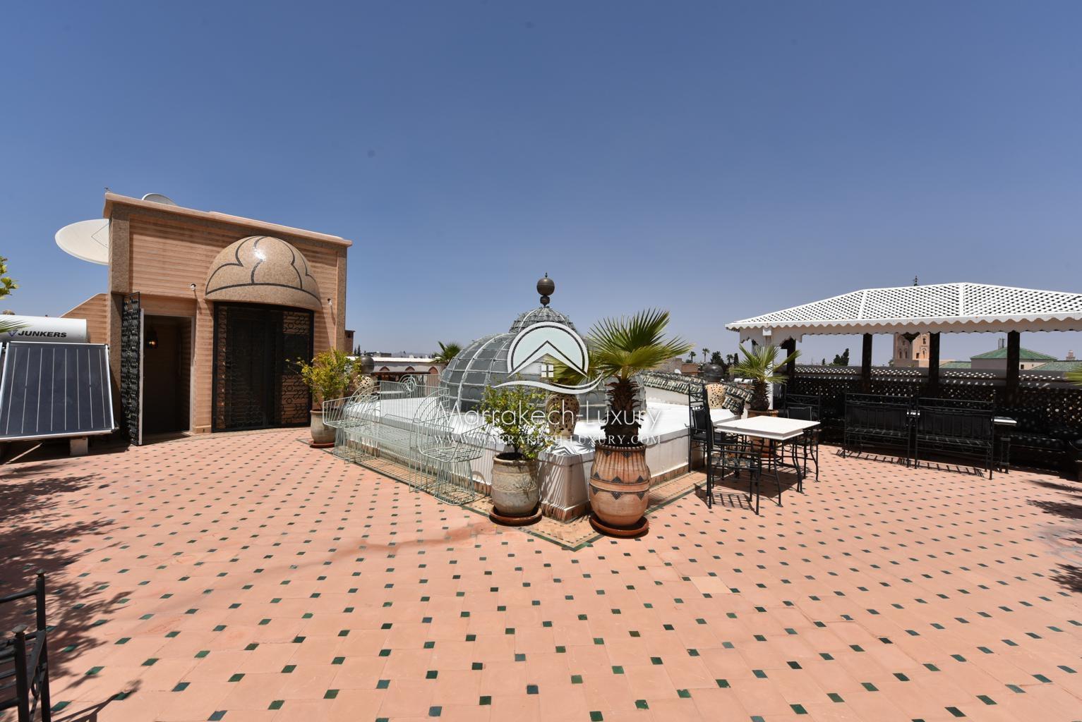 Unique Riad Hôtel Particulier Avec Piscine Et Ascenseur À ... dedans Riad Marrakech Avec Piscine