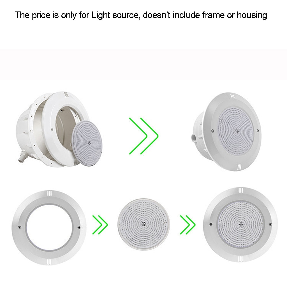 Us $41.5 |Resin Filled Led Pool Light 18W 36W Projecteur Piscine Led  Underwater Lighting Rgb Spot Synchronous With Remote Warm Cold White-In Led  ... pour Spot Piscine Led