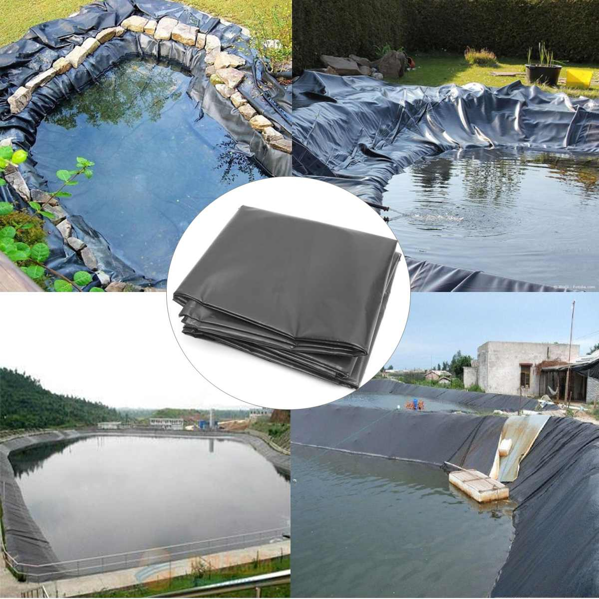 Us $84.86 45% Off|Big Hdpe Fish Pond Liner Waterproof Membrane Garden Pond  Landscaping Pool Thick Liner 8X14M / 8X12M / 8X10M / 8X8M / 8X6M/ 8X4M-In  ... serapportantà Piscine Geomembrane