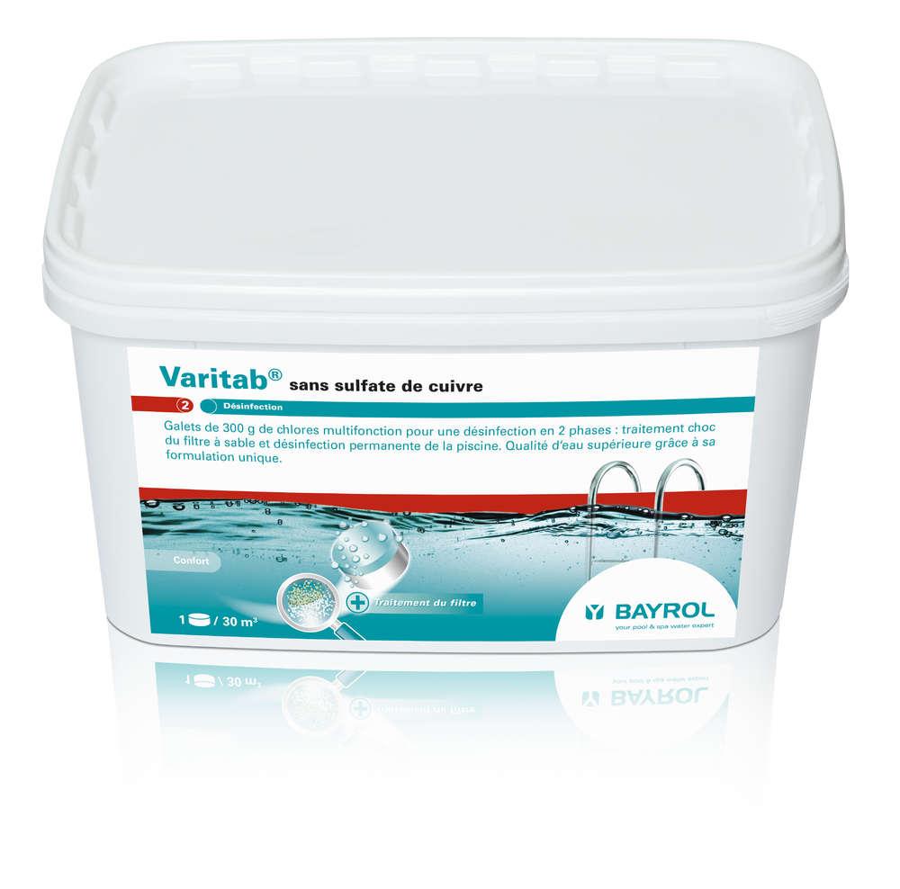 Varitab- Galet 300 G - Traitement Régulier Bayrol Varitab5 - 2299351  Chlorilong Ultimate7 pour Sulfate De Cuivre Piscine