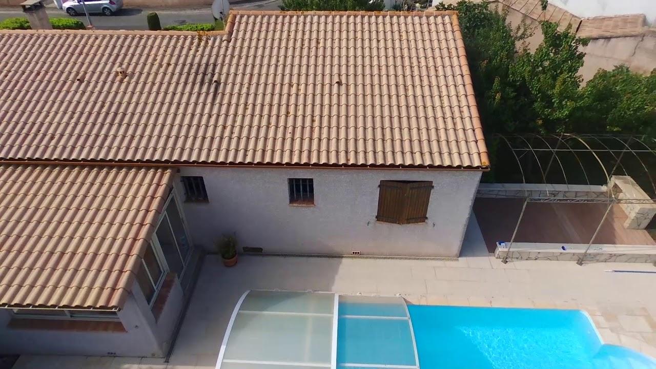 [Vendu] [Vidéo Drone] Villa Avec Piscine À 10 Min De Carcassonne - Secteur  Grazailles dedans Piscine Grazailles