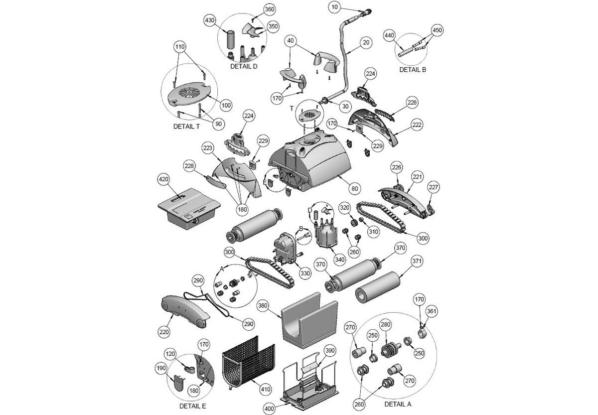 Vente De Pièces Détachées Pour Robot De Piscine Astralpool ... pour Pieces Detachees Piscine