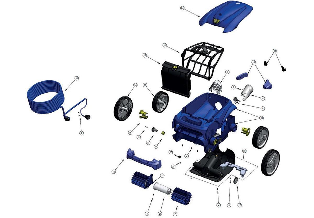 Vente De Pièces Détachées Pour Robot Électrique Zodiac Vortex 3 intérieur Robot Piscine Zodiac Vortex 4