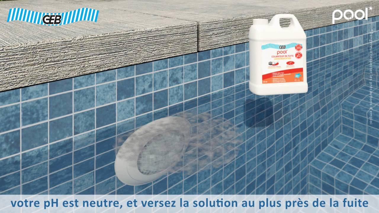 Vidéo 3D De Notice D'utilisation Des Produits Geb Pool dedans Colmateur De Fuite Piscine