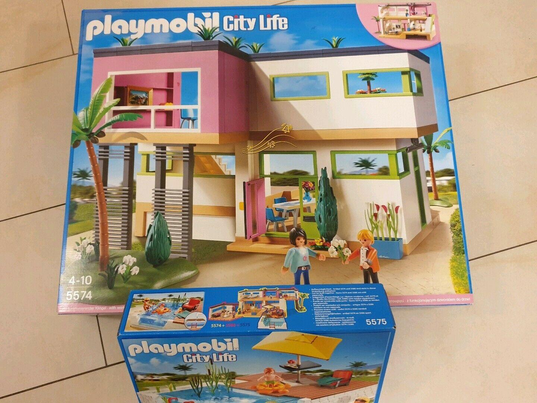 Viele Zugeständnisse-Playmobil City Life Luxusvilla 5574 ... à Piscine Playmobil 5575