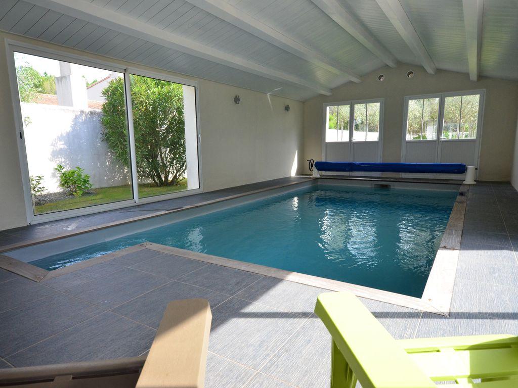 Villa 12 Personnes Avec Piscine Interieure Chauffee - Rivedoux-Plage encequiconcerne Location Maison Avec Piscine Intérieure