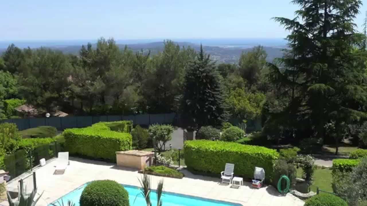 Villa À Vendre - Grasse 06130 - Piscine - Vue Mer - 151 M² dedans Piscine Grasse