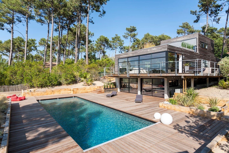 Villa Au Cap Ferret Avec Piscine - Villas À Louer À Lège-Cap ... destiné Location Maison Avec Piscine France