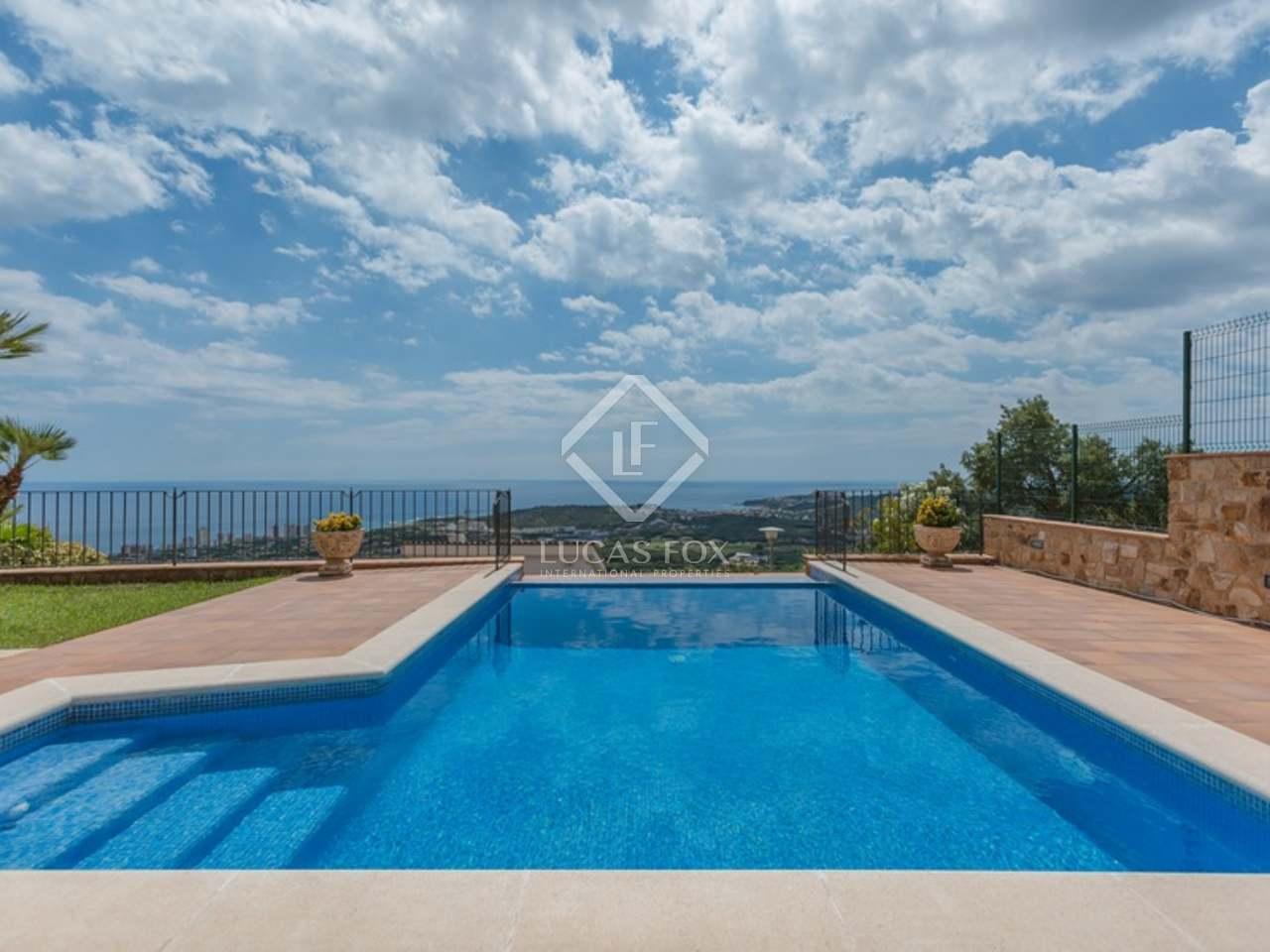 Villa Avec Vue Sur La Mer À Vendre Sur La Costa Brava intérieur Piscine Fos Sur Mer