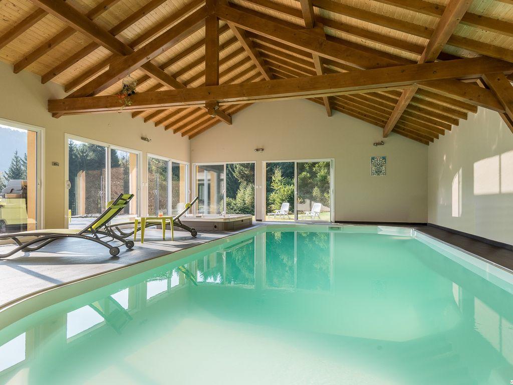 Villa De Montagne Avec Piscine Et Jacuzzi Pour Détente En Famille Ou Entre  Amis. - Fresse-Sur-Moselle dedans Location Maison Piscine Intérieure