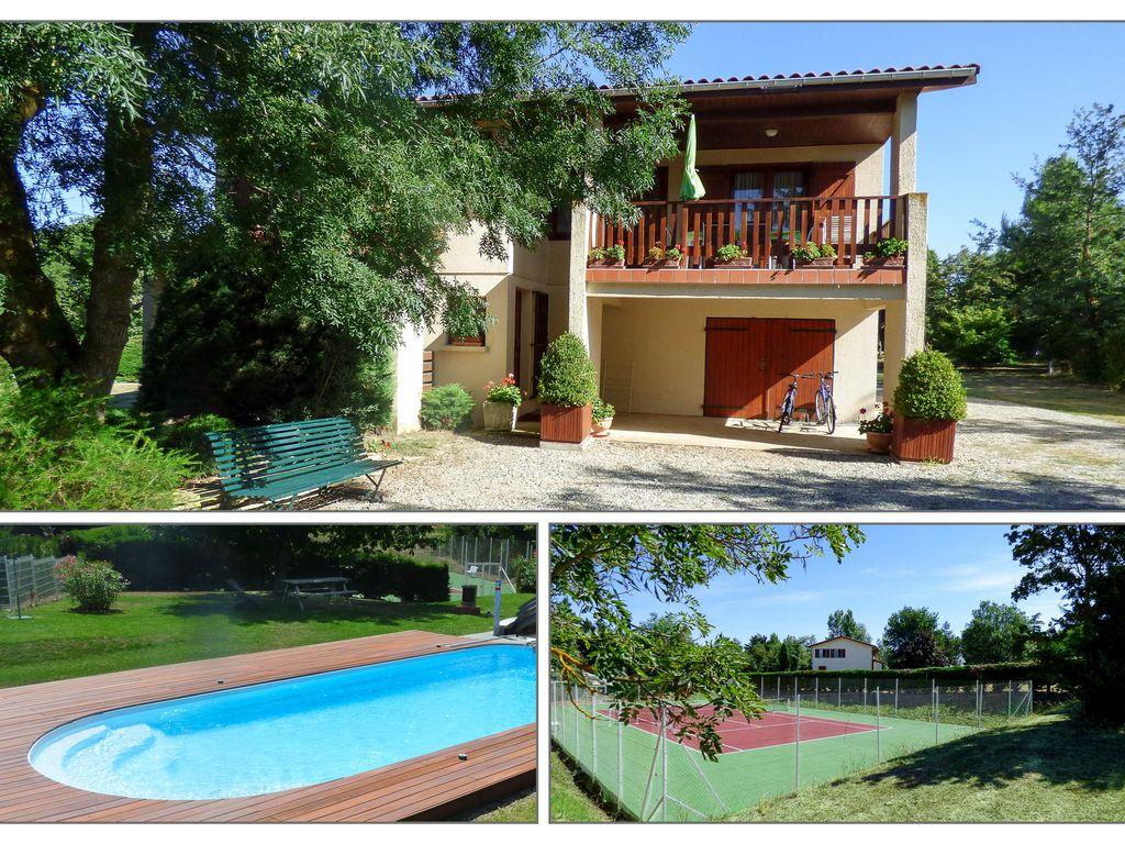 Villa Meublée Spacieuse Avec Tennis Et Piscine Privée - Nailloux à Location Maison Avec Piscine France