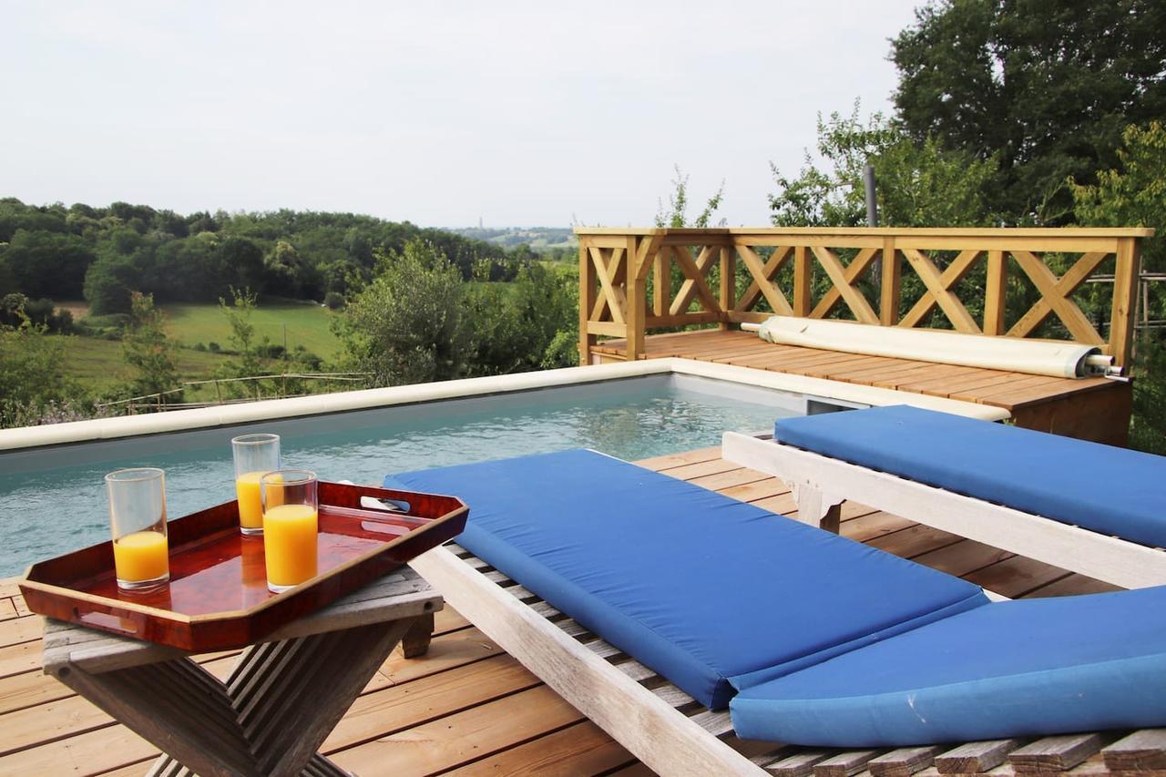 Villalar Les Ecuries Du Chateau Tauziet (Fransa Montfort-En ... tout Piscine Tauziet