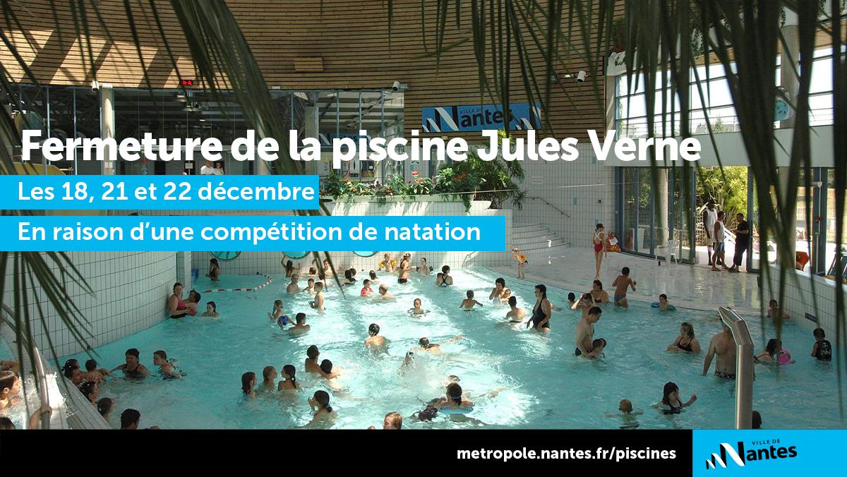 """Ville De Nantes On Twitter: """"bonjour, La Piscine Jules Verne ... avec Jules Verne Piscine"""