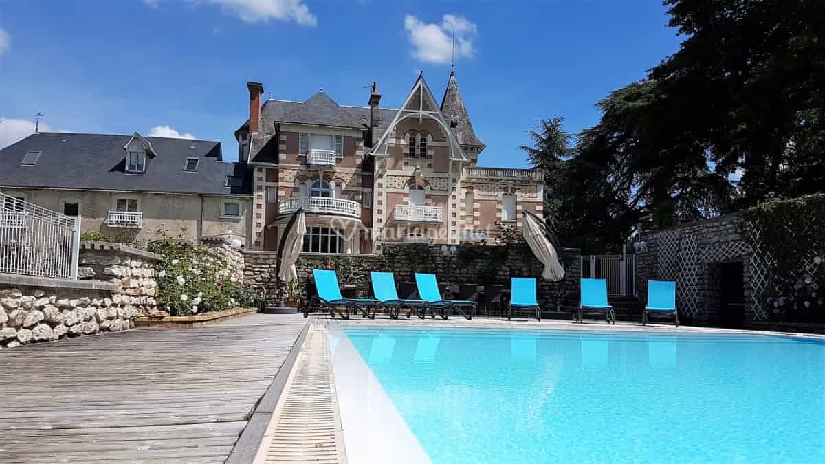 Vue Piscine/maison De La Poignardière   Photo 1 concernant Piscine Chatillon Sur Indre