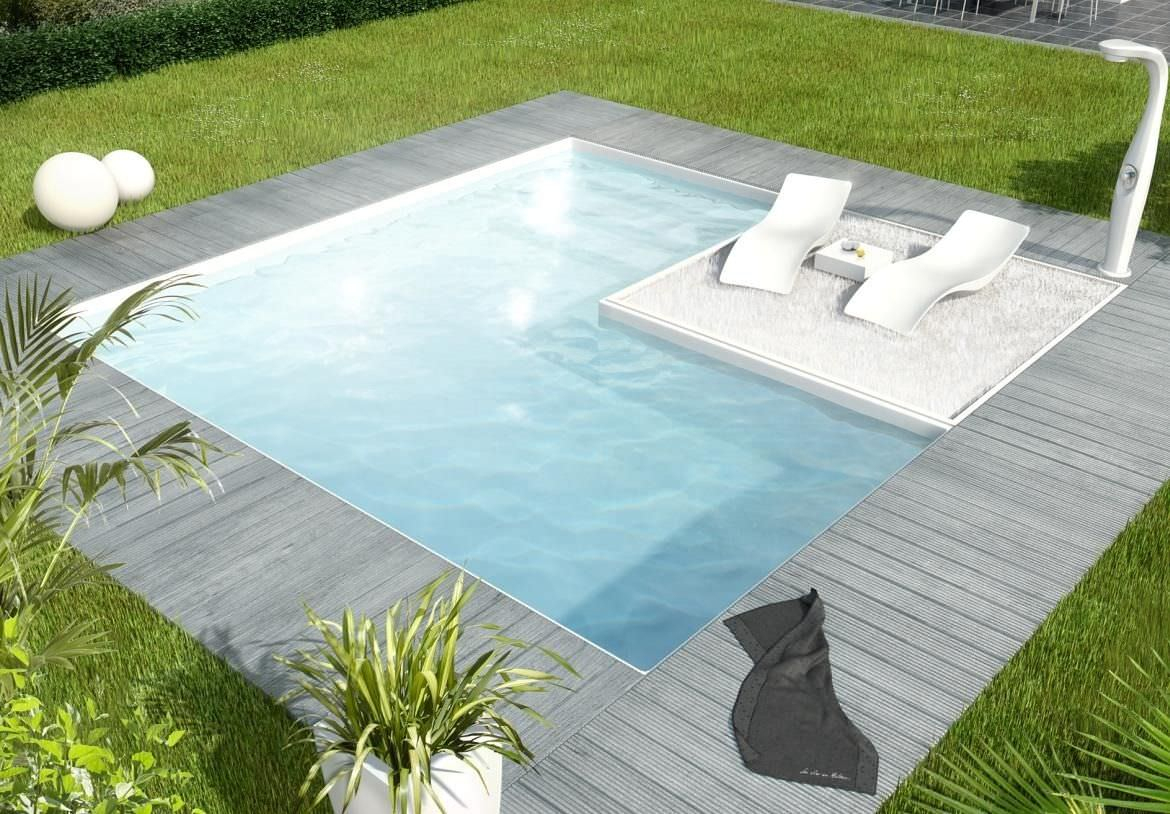 Wall Swimming Pool / In-Ground / Steel / Outdoor - Cub'o ... pour Piscine Aquilus