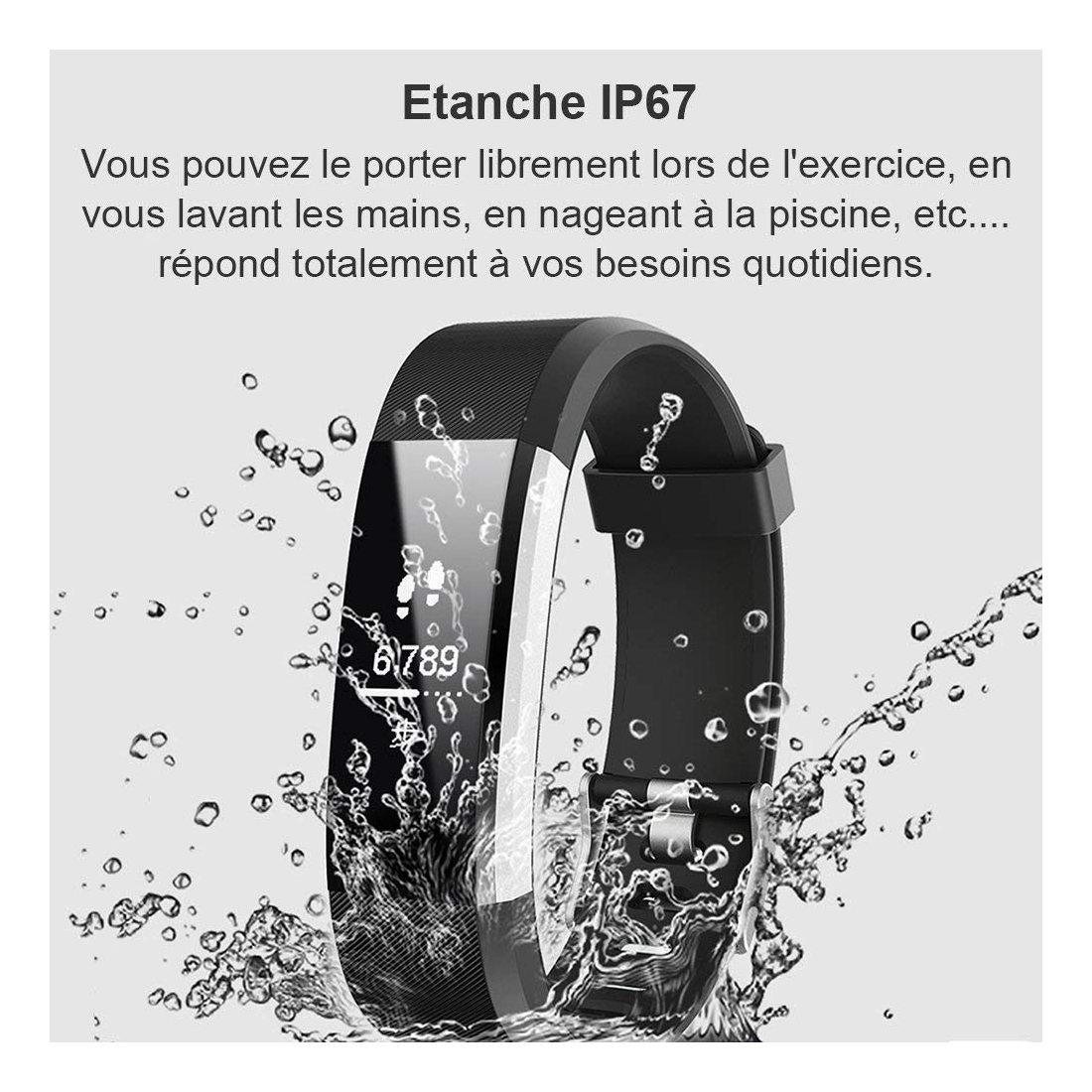 Willful Montre Connectée Smartwatch Podomètre Bracelet Connecté Etanche  Ip67 Pour Femme Homme Enfant Smart Watch Cardio Fitne tout Bracelet Connecté Piscine