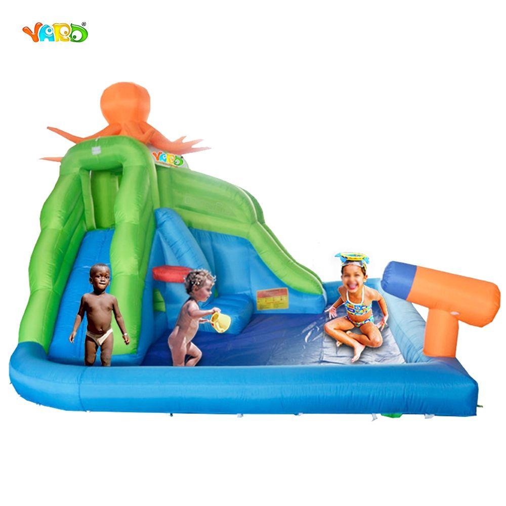 Yard Backyard Octopus Inflatable Water Park Slide Swimming ... serapportantà Toboggan Piscine Gonflable