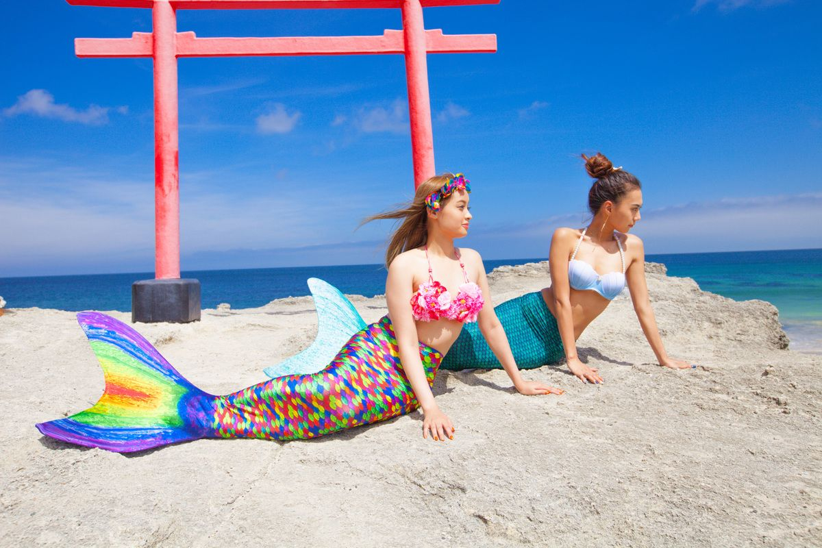 Your Mermaid Tail Abyss Mermaid Swimsuit For Swimming At The ... serapportantà Palme Piscine