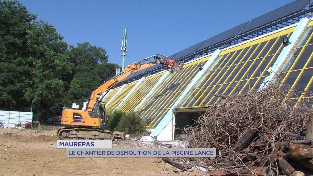 Yvelines | Maurepas : Le Chantier De Démolition De La Piscine Lancé intérieur Piscine Maurepas