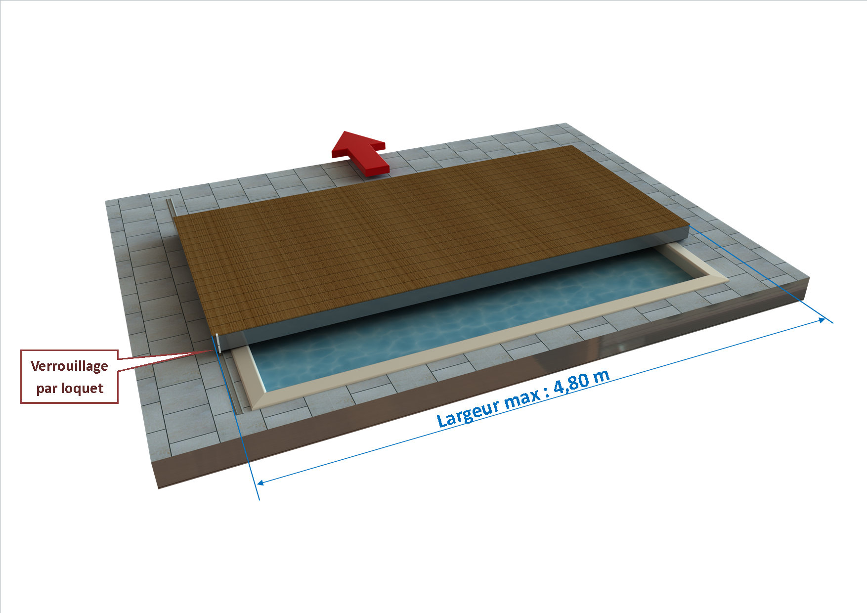 Zoom Produit : Terrasse Mobile Stilys - Ec'creation destiné Fabriquer Une Terrasse Mobile Pour Piscine