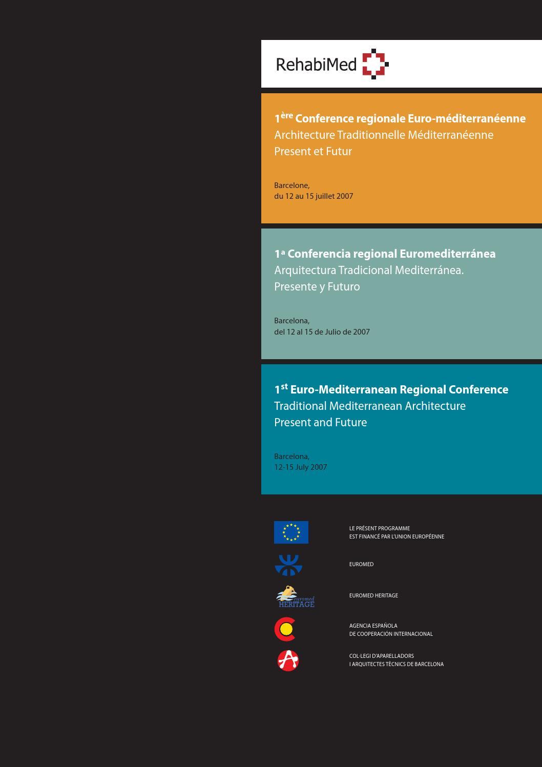1Ère Conference Regionale Euro-Méditerranéenne Architecture ... à Amanagement Cour Extarieur