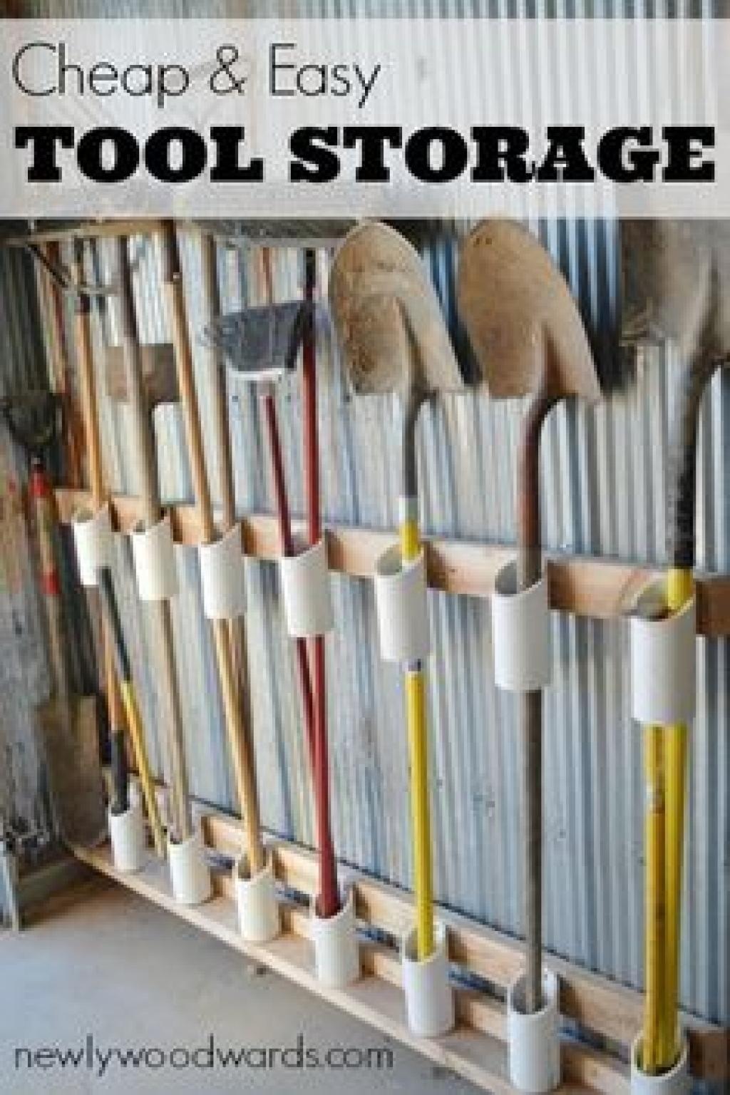 20 Brillantes Astuces De Rangement, Pour Un Garage ... intérieur Range Outils De Jardin