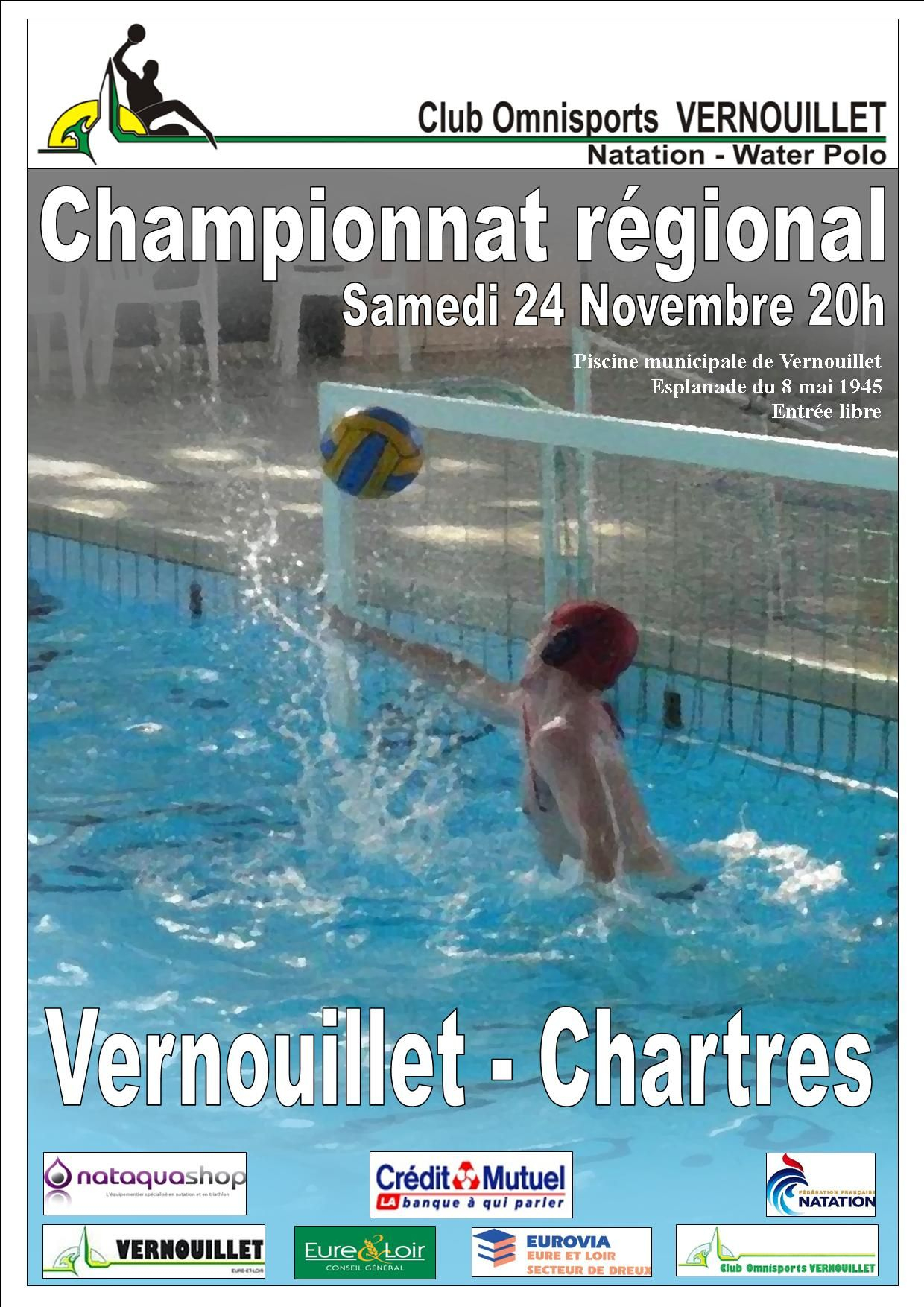24/11/2012 Water-Polo : Vernouillet - Chartres | Cov ... avec Piscine Vernouillet