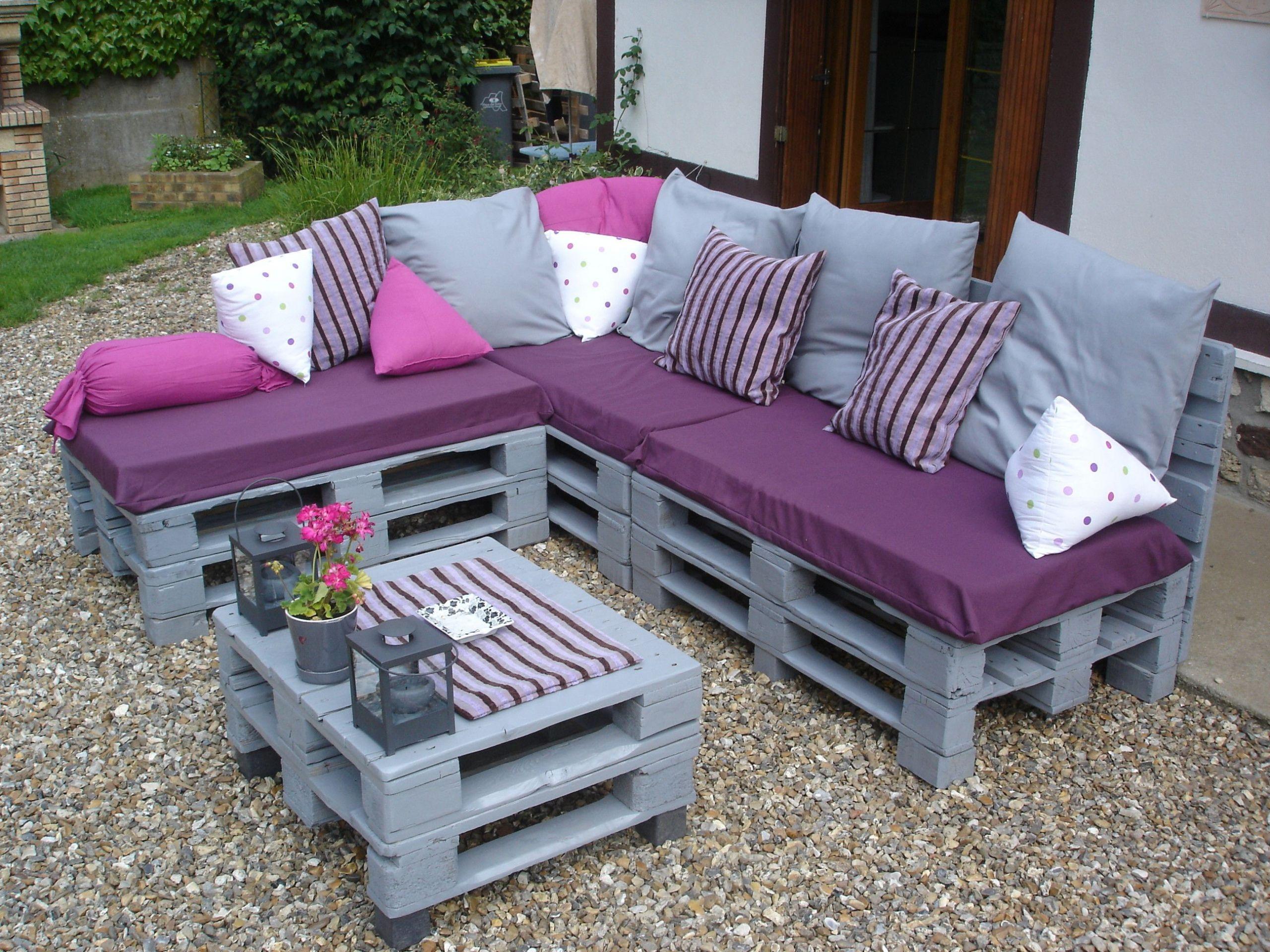 36 Nouveau Mobilier De Jardin En Palette | Salon Jardin avec Meubles De Jardin En Palettes
