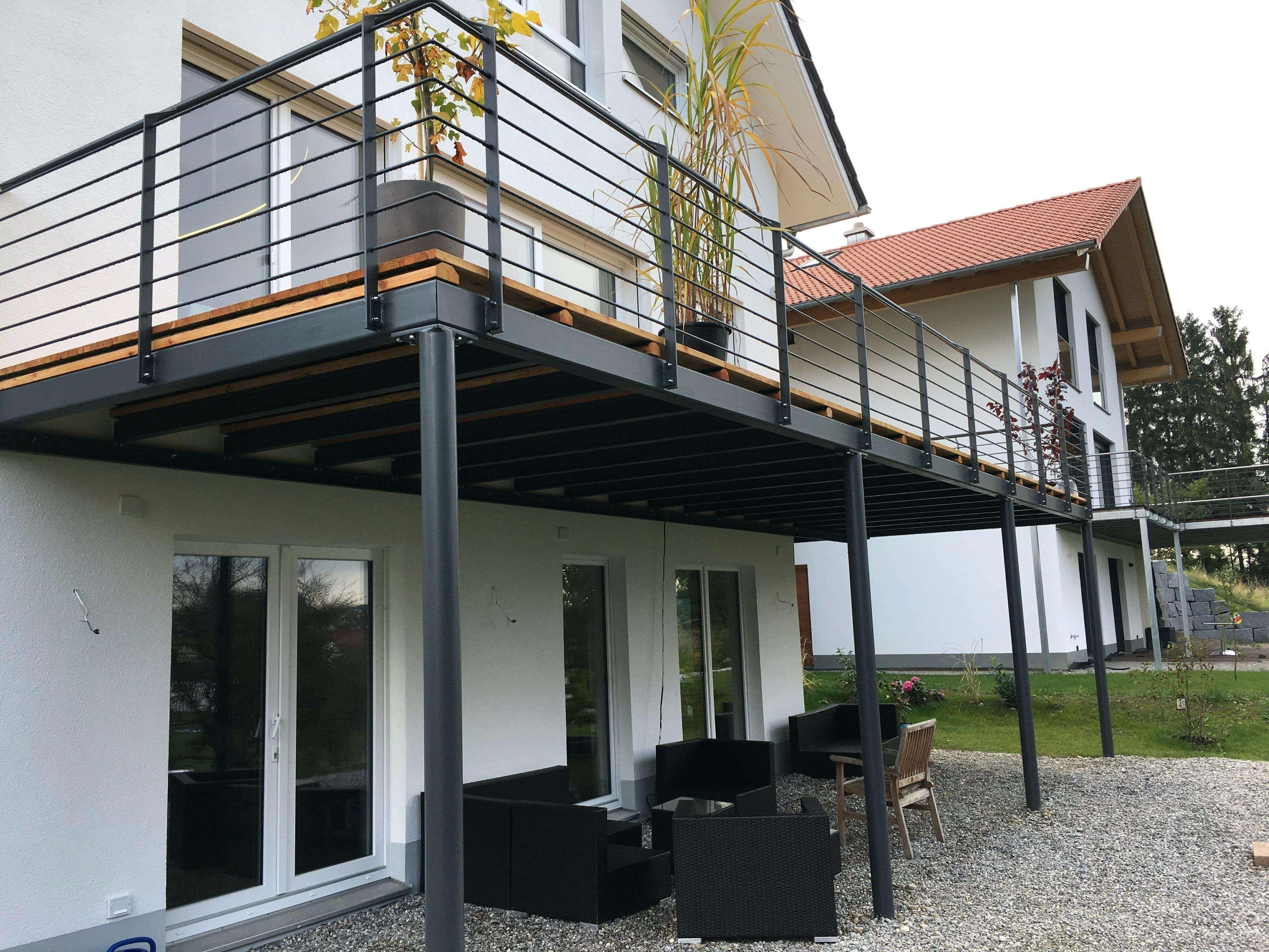 38 Genial Balkongeländer Edelstahl Glas Pic Design-Ideen Von ... dedans Terrasse Bois Pilotis